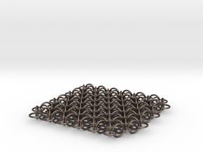 2D Chain Mail, 2cm deep version in Polished Bronzed Silver Steel