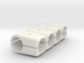 T-Stück 25x25 Verstärkt 4-fach Set in White Natural Versatile Plastic