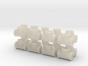 "7/8"" scale pipe fittings: 2"" pipe in White Acrylic"