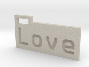 Love 3D in Natural Sandstone