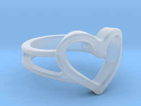 Heart ring in Smooth Fine Detail Plastic