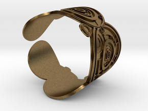 The Doctor's name (Embossed): Cuff in Natural Bronze: Extra Small