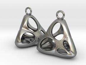 Irene Earrings (silver) in Natural Silver