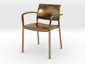 Stylex Brooks Arm Chair 1:24 Scale in Natural Brass