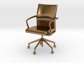 Stylex Sava Chair - Fixed Arms 1:24 Scale in Natural Brass