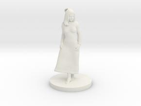 Girl in dress in White Natural Versatile Plastic