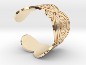 The Doctor's name (Engraved): Cuff - size M in 14K Yellow Gold