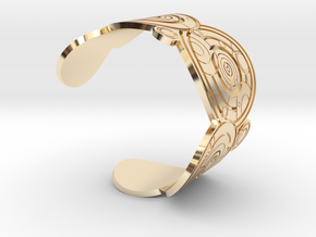 The Doctor's name: (Engraved) Cuff - size XL in 14K Yellow Gold