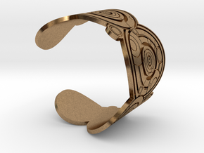 The Doctor's name (Engraved): Cuff - size L in Natural Brass