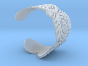 The Doctor's name (Engraved): Cuff - size L in Smooth Fine Detail Plastic