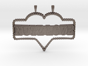 NuTz Love in Polished Bronzed Silver Steel