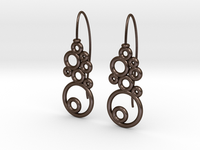Orecchini-bolle in Polished Bronze Steel