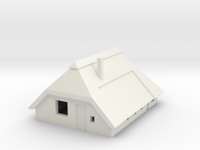 Farm/Boerderij scale 1:450 (t gauge) in White Natural Versatile Plastic