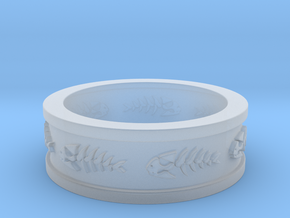 FSM Pirate Fish Ring Size 13 in Smooth Fine Detail Plastic