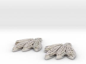 Blackhawks Earrings in Platinum
