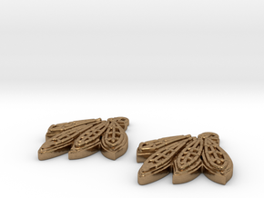 Blackhawks Earrings in Natural Brass
