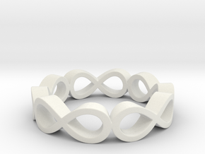 Infinity in White Natural Versatile Plastic
