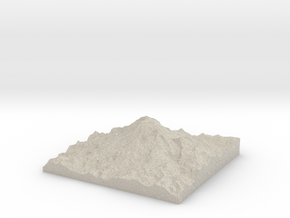 Model of Tahoma Glacier in Sandstone