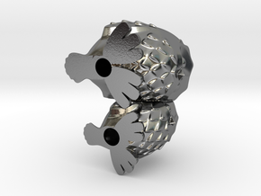CuddlingOwls 50mm / 1.96 inches Tall in Polished Silver