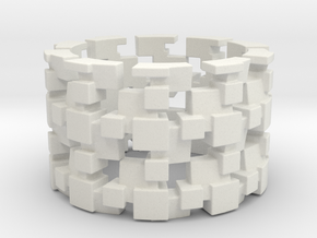 Tilt Cubes Ring Size 11 in White Strong & Flexible
