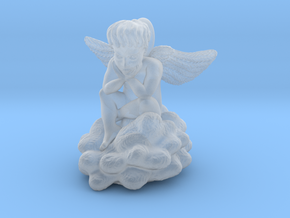Angel Cupid pendant charm in Smooth Fine Detail Plastic