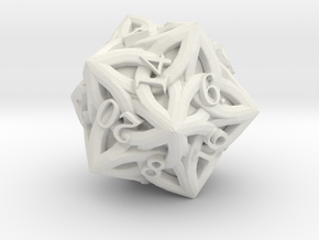 Celtic D20 - Solid Centre for Plastic in White Natural Versatile Plastic