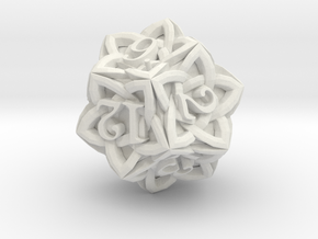 Celtic D12 - Solid Centre for Plastic in White Natural Versatile Plastic