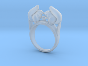 Squirrel Ring in Smooth Fine Detail Plastic