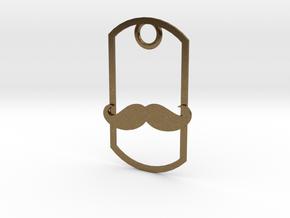Movember dog tag in Natural Bronze