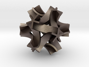 Origami I, large in Polished Bronzed Silver Steel