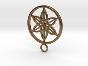 flower pendant in Natural Bronze