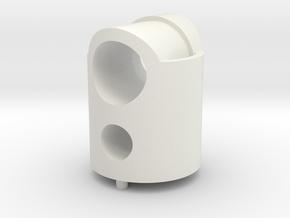 micromouse LED/sensor mount in White Natural Versatile Plastic