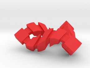 Impossible Triangle, Cubed in Red Strong & Flexible Polished
