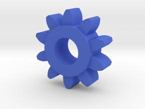 Involute Gear M1 T10 in Blue Processed Versatile Plastic