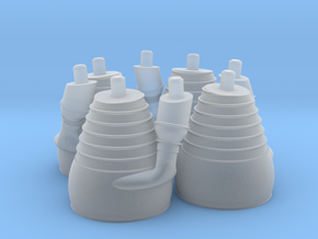 H-1 Engines (1:72 Outboards ONLY) in Smooth Fine Detail Plastic