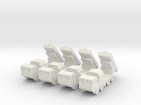 1/350 Chinese CJ-10 SSM (x4) in White Natural Versatile Plastic