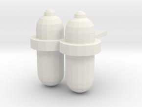 Scuba Tanks-001 in White Natural Versatile Plastic
