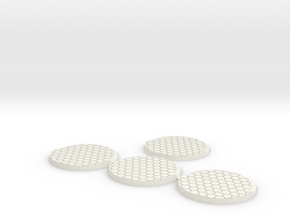 55mm-hex-4pack in White Natural Versatile Plastic