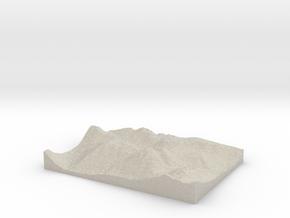 Model of Wasdale Head in Natural Sandstone