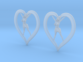 Joyful In Heart Earrings (wearing skirt) in Smooth Fine Detail Plastic