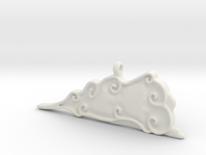 Cloud Pendent in White Natural Versatile Plastic