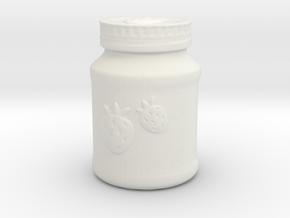 Mason Jar Of Jam in White Strong & Flexible