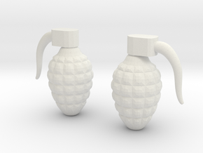 Grenade 6g in White Natural Versatile Plastic