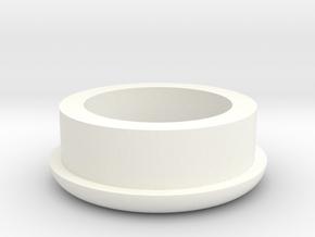 Picnic Table Umbrella Spacer (Full) in White Processed Versatile Plastic