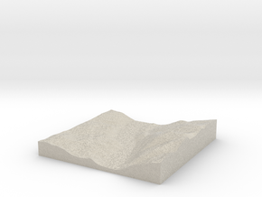 Model of Legburthwaite in Natural Sandstone