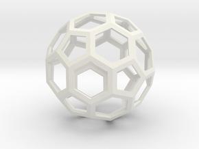 Leonardos Icosahedron in White Natural Versatile Plastic