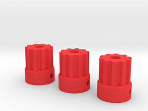 Reprap Pulleys XL 10t in Red Processed Versatile Plastic