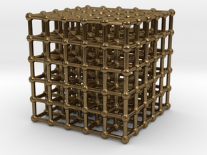 cube matrix (large) in Natural Bronze