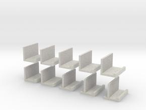 zz - Stand, Ramp, Edge 12  White in Full Color Sandstone