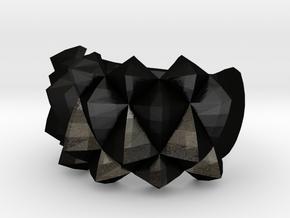 Ring Studs in Matte Black Steel